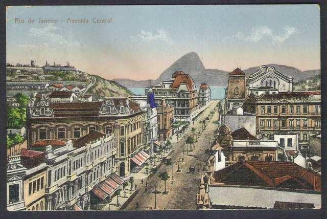 A Avenida Central por volta de 1908